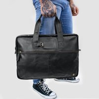 Personalised Leather Classic Holdall In Brown Or Black, Brown/Ebony/Black