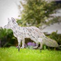Decorative Metal Fox Garden Stake
