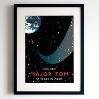 David Bowie 'Space Oddity' 50th Anniversary Print