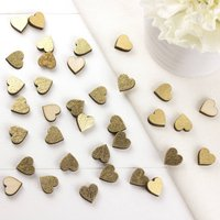 Gold Scatter Hearts For Weddings And Occasions