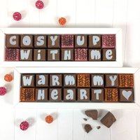 Cosy Up With Me Chocolate Messages Personalised Gift