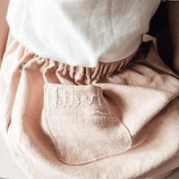 Handmade Personalised Linen Baby And Toddler Skirt