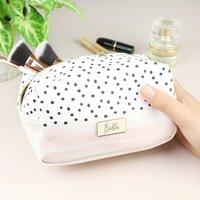 Personalised Pink And Polka Dot Make Up Bag