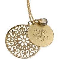 18ct Gold Vermeil Signature Necklace, 30mm, Gold