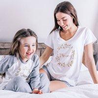 Personalised Family Winter Wreath Pyjamas