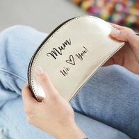 Mum Leather Make Up Bag