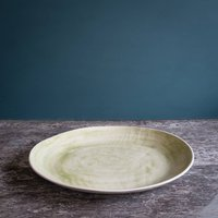 Wonki Ware Paella Green Wash, Aubergine/Cornflower Blue/Blue