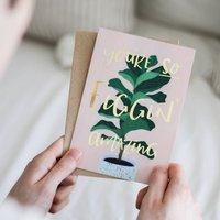 Figgin Amazing Fig Leaf Plant Card