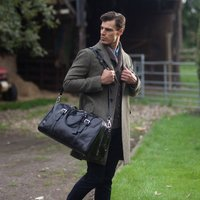 Personalised Leather Travel Holdall Flero Medium