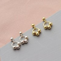 Mini Beads On Circle Earring Studs