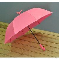Pink Flamingo Umbrella, Blue