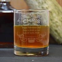 Name And Crown Engraved Whisky Tumbler