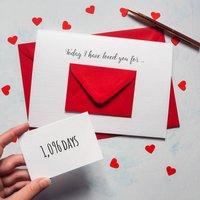 Personalised X Large Days I've Loved You Envelope Card