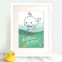 Children's Kawaii Whale Print With Metallic Foil