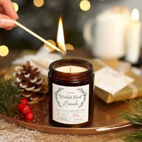 Personalised Friend Christmas Candle