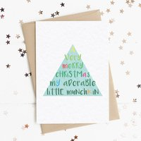 Merry Christmas My Adorable Little Munchkin A6 Card