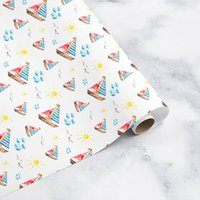 Boats Wrapping Paper Roll Or Folded