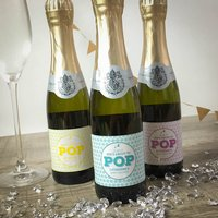 Baby Shower Mini Prosecco, Yellow/Pink/Blue