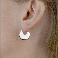 Huggie Hoop Earrings In Solid Sterling Silver, Silver