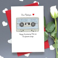 'Our Mixtape' Personalised Retro Card