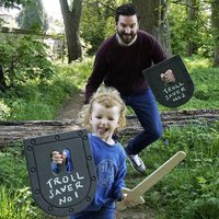 Personalised Daddy And Me Shield And Sword Play Set