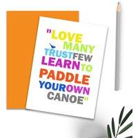 'Canoe' Type Card