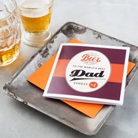 Beer Loving Dad Card