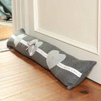 Cosy Home Grey Heart Draught Excluder