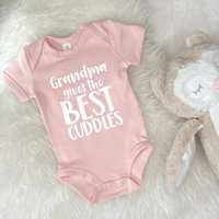 Grandma Gives The Best Cuddles Personalised Babygrow