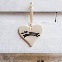 Badger Art On A Heart
