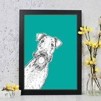 Airedale Dog Print