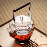 Glass Teapot With Red Sandalwood Handle