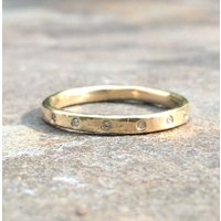 Hexa Ring 9ct Yellow Eco Gold Diamond, Gold