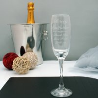 Engraved Champagne Flute For The Godfather