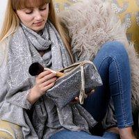 Glitter Box Shape Make Up Bag
