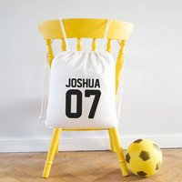 Sports Name And Number Kit Bag