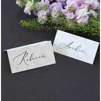 Monochrome Marble Wedding Place Cards