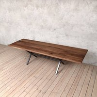 Richmond Extendable Live Edge Walnut Dining Table
