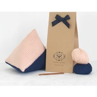Crochet Your Own Triangle Wool Cushion Kit