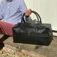 Personalised Nuhide Travel Holdall