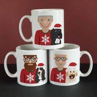 Christmas Dog Dad Mug