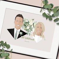 Personalised Wedding Couple Portrait Print