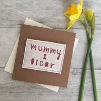 Personalised 'Mummy/Mama And' Birthday Card