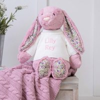 Personalised Blossom Pink Bunny Large Soft Toy
