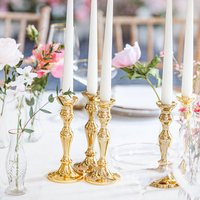 Gold Candlesticks - Set Of Two