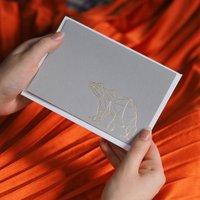 Luxury Geometric Bear Christmas Card