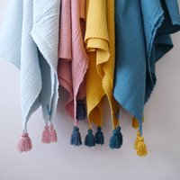 Four Layers Cotton Gauze Muslin Throw Blanket