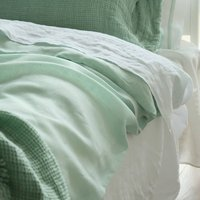Stone Washed Bed Linen Flat Sheet