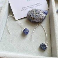 Sapphire September Birthstone Dropper Earrings