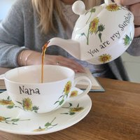 Personalised Sunflower Tea For One
